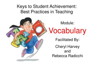 Module: Vocabulary Facilitated By: Cheryl Harvey  and  Rebecca Radicchi