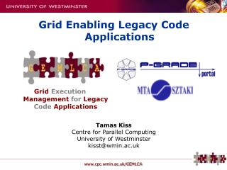Grid Execution Management for Legacy Code Applications