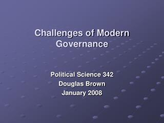 Challenges of Modern Governance