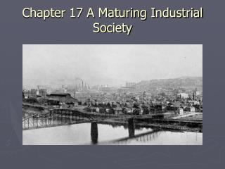 Chapter 17 A Maturing Industrial Society