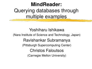 MindReader: Querying databases through multiple examples