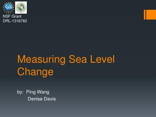 Measuring Sea Level Change