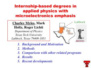 Internship-based degrees in applied physics with microelectronics emphasis