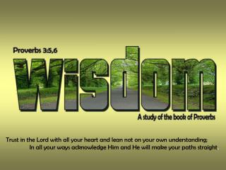 Trust in the Lord with all your heart and lean not on your own understanding;