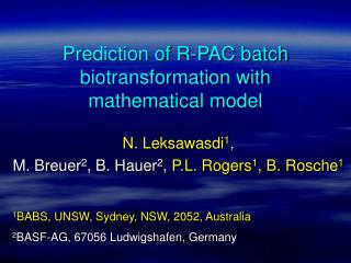 Prediction of R-PAC batch biotransformation with mathematical model
