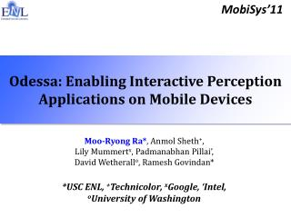 Odessa: Enabling Interactive Perception Applications on Mobile Devices
