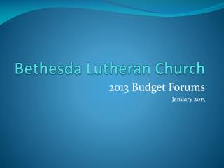 Bethesda Lutheran Church