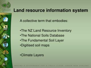 Land resource information system