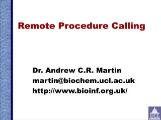 Remote Procedure Calling