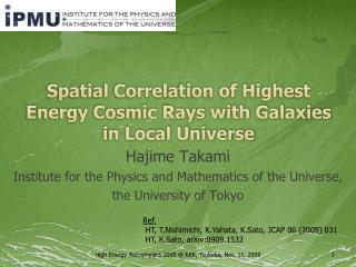 Spatial Correlation of Highest Energy  C osmic Rays with Galaxies  in Local Universe