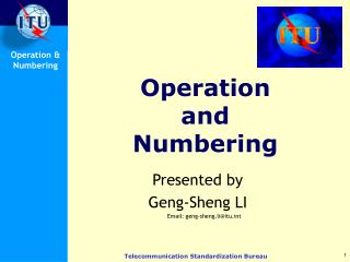 Operation  and  Numbering
