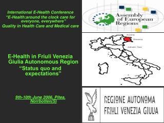 "International E-Health Conference ""E-Health:around the clock care for everyone, everywhere"""