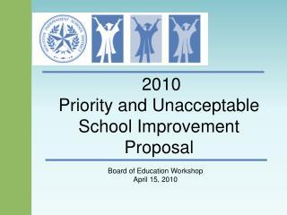 2010 Priority and Unacceptable School Improvement Proposal