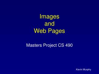 Images  and Web Pages