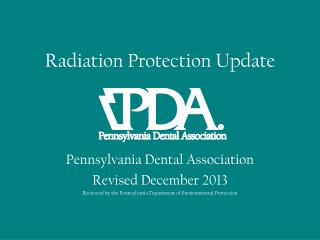 Radiation Protection Update