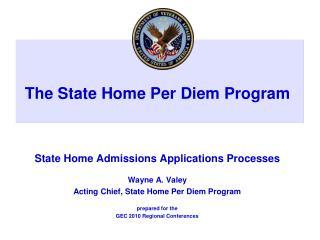 The State Home Per Diem Program