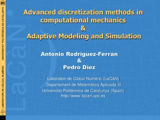 Advanced discretization methods in computational mechanics &  Adaptive Modeling and Simulation