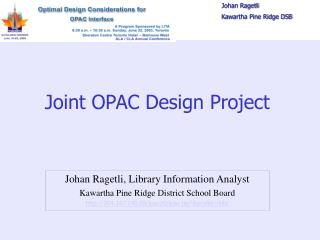 Joint OPAC Design Project