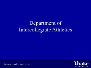 Department of  Intercollegiate Athletics