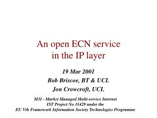 An open ECN service  in the IP layer