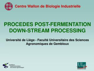 PROCEDES POST-FERMENTATION DOWN-STREAM PROCESSING