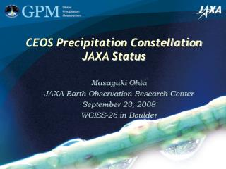 CEOS Precipitation Constellation JAXA Status