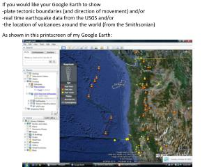 If you would like your Google Earth to show
