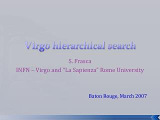 Virgo hierarchical search