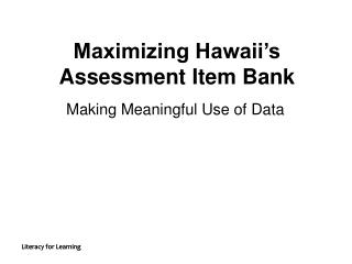 Making Meaningful Use of Data