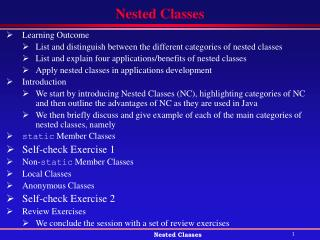 Nested Classes