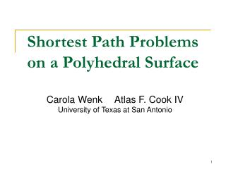 Shortest Path Problems on a Polyhedral Surface