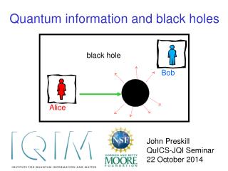 Quantum information and black holes