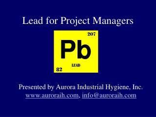 Lead for Project Managers