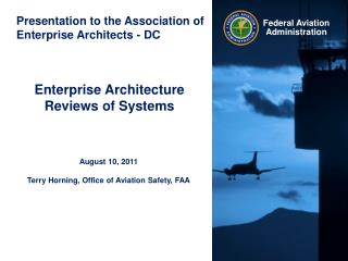 Presentation to the Association of Enterprise Architects - DC