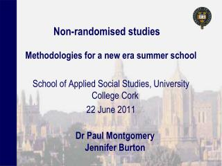 Non-randomised studies