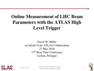 Online Measurement of LHC Beam Parameters with the ATLAS High Level Trigger