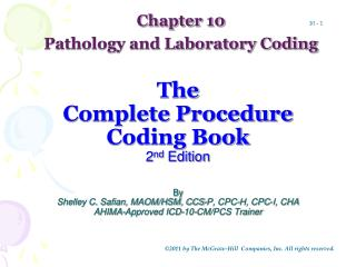 Chapter 10 Pathology and Laboratory Coding