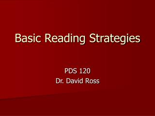 Basic Reading Strategies