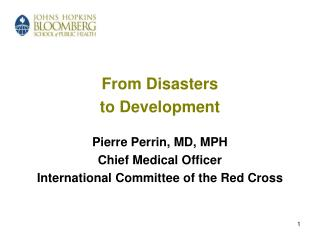 Disasters and Development