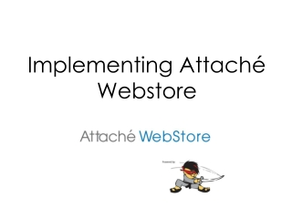 Implementing Attaché Webstore