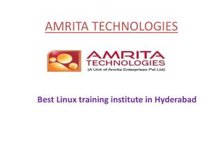 Red Hat Linux Training Hyderabad | RHCE, RH236, RH413|amrita