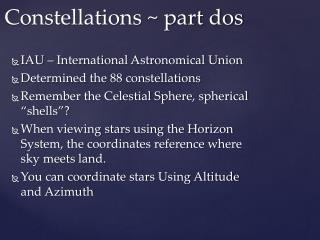 Constellations ~ part dos