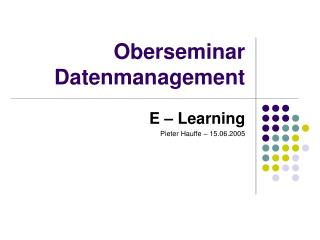 Oberseminar Datenmanagement