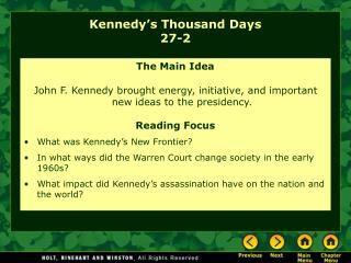 Kennedy's Thousand Days 27-2