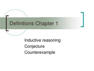 Definitions Chapter 1