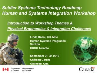 Introduction to Workshop Themes &  Physical Ergonomics & Integration Challenges