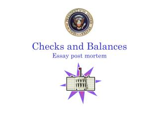 Checks and Balances Essay post mortem