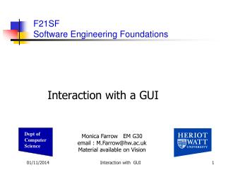 Interaction with a GUI