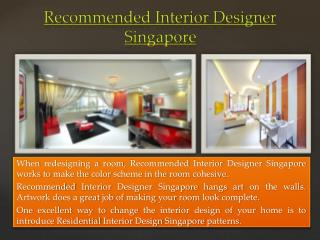 Good Interior Designer Singapore