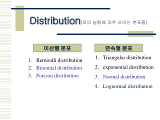 Distribution ( ?? ??? ?? ??? ??? )